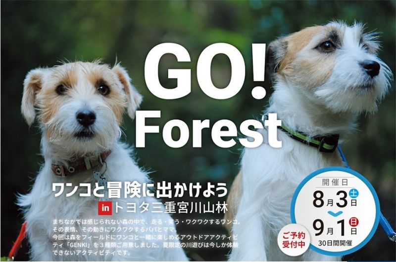GO!Forestワンコと冒険にでかけようinトヨタ三重宮川山林