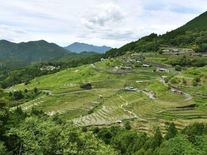 自然与人力结合而成的绝景——丸山千枚田,梯田上的小村庄