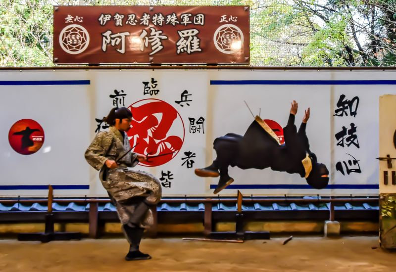 Experience the original ninja arts at the Ninja Museum of Igaryu!  Go and meet up the energetic Ninjas!