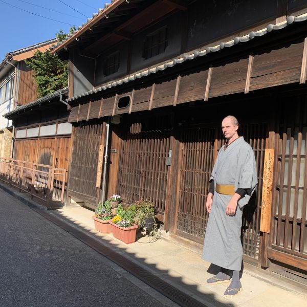 Wrapped in a Kimono, surrounded by history.