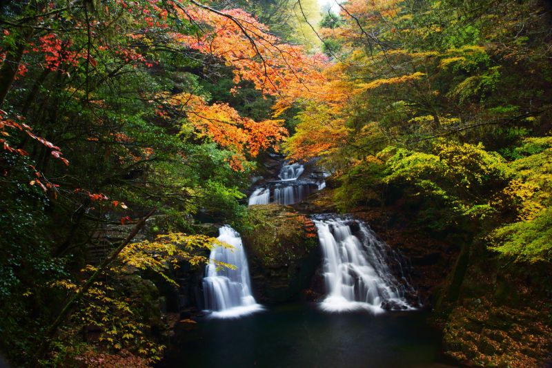 Akame 48 Waterfalls:A group of beautiful waterfalls preserved by the locals