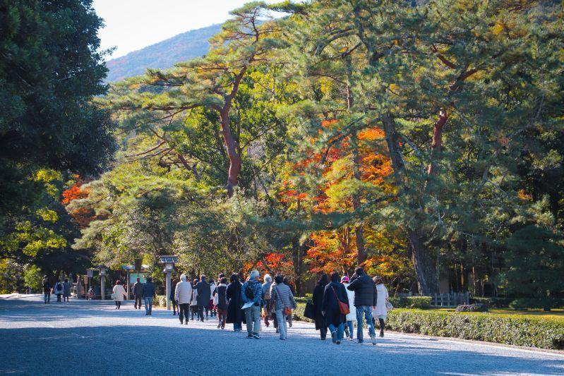 ศักการะศาลเจ้าอิเสะและเดินชม Meoto Iwa หินเมโอโตะอิวะ : หินสามี-ภรรยา